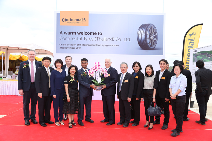 Continental Lays Foundation Stone of the New Greenfield Tyre Plant