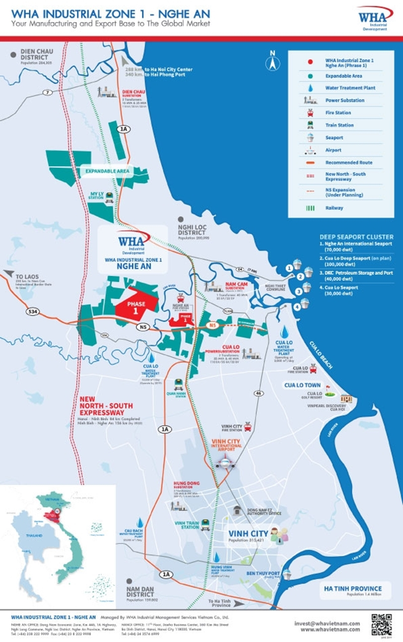 WHA Industrial Zone 1 - Nghe An: Firm Statement to Vietnam