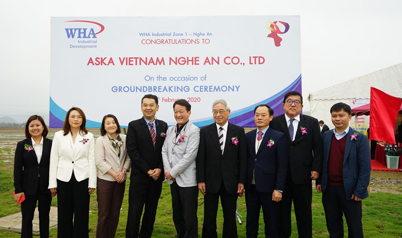 Aska Vietnam Nghe An (Japan) Breaks Ground  at WHA Industrial Zone 1 – Nghe An