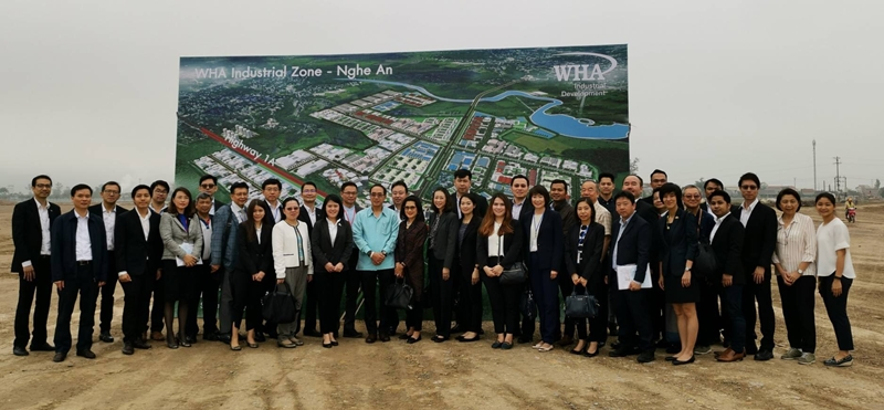 Thai Ambassador to Vietnam and BOI Representatives Lead Thai Businessmen on Visit of WHA Industrial Zone 1 - Nghe An