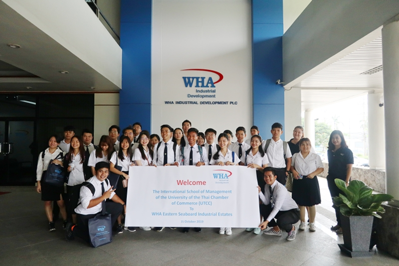 University of Thai Chamber of Commerce Students  Visit WHA ESIE 2 and ESIE (Rayong)