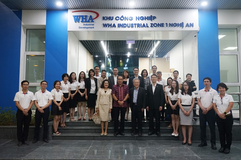 WHA Group Welcomes Thai Ambassador and his Delegation to New Office  of WHA Industrial Zone 1 – Nghe An in Vietnam