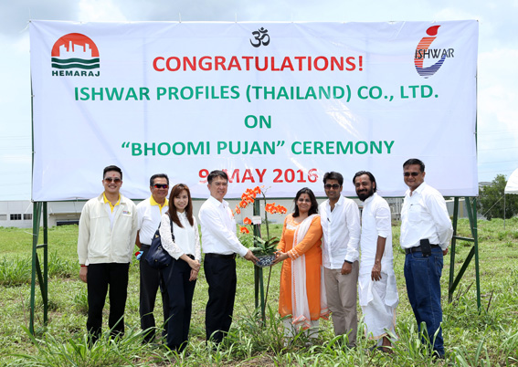 Ishwar Profiles (Thailand) Holds Bhoomi Pujan Ceremony for