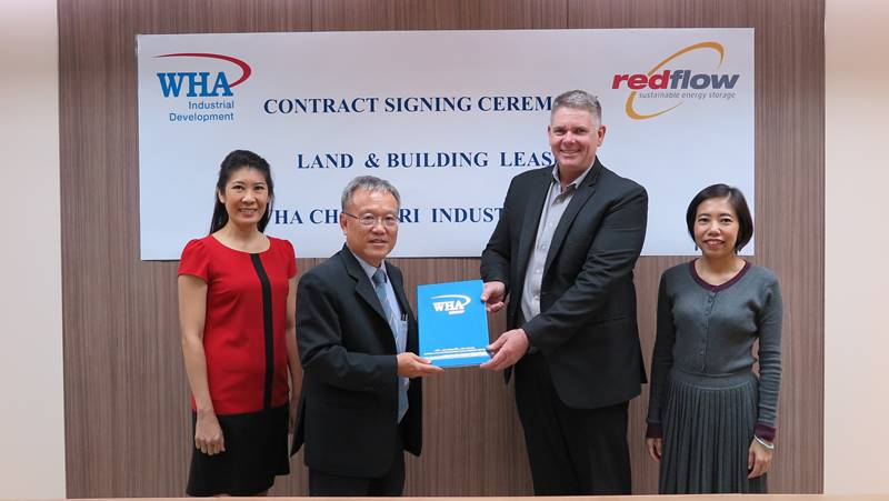 Redflow Finalizes Ready Built Factory Lease Deal with WHA