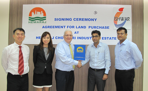 Ishwar Profiles (Thailand) Purchases Land at Hemaraj CIE | WHA